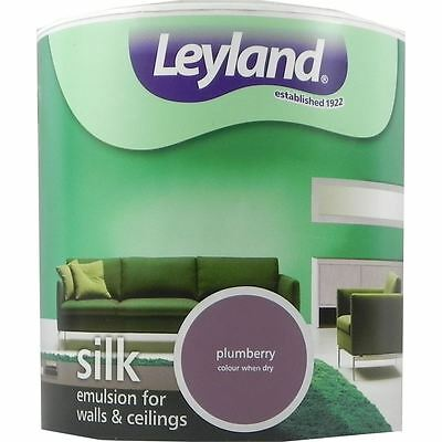 Leyland Silk Emulsion Paint For Walls & Ceilings 2.5L Plumberry