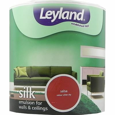Leyland Silk Emulsion Paint For Walls & Ceilings 2.5L Salsa