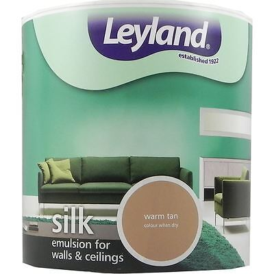 Leyland Silk Emulsion Paint For Walls & Ceilings 2.5L Warm Tan