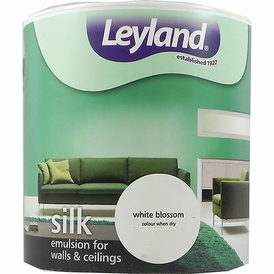 Leyland Silk Emulsion Paint For Walls & Ceilings 2.5L White Blossom