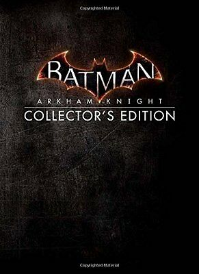BATMAN ARKHAM KNIGHT COLLECTOR'S EDITION HARDCOVER 2015 w. EXCLUSIVE LITHOS
