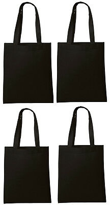 Set of 8 NEW Shopping Bag Folding Reusable Grocery Bags Convenient Tote Black