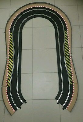 Scalextric Extension Track Swipe Chicane Curves Borders Barrier