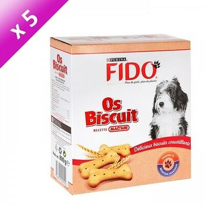 FIDO Os biscuit - Pour chien adulte - 800g (x5)
