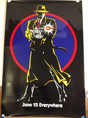 Dick Tracy movie Poster /1990 Double sided, Advanced copy 27 X 40 Warren Beatty