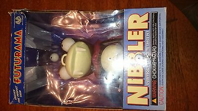 """Futurama 8"""" Vinyl Nibbler with box by Moore Collectibles release year 2000 -worn"""