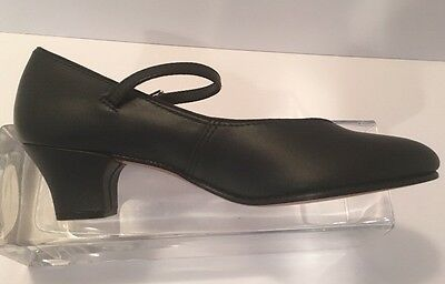 New CAPEZIO Character Dance Heels Size 6N Shoes Ankle Strap $55 MSRP