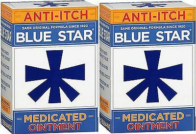 Blue Star Ointment For Ringworm Eczema Itching 2oz 2 Pack