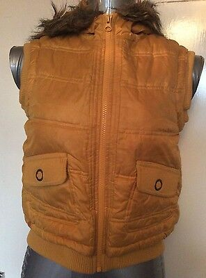 Girls,next, Age 11-12 Years, 152Cm, Yellow Gilet/waistcoat/bodywarmer, Pre-Loved