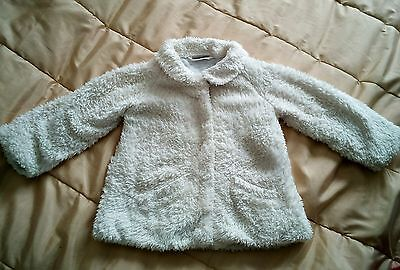 Good condition NEXT cream fluffy coat 2-3 years
