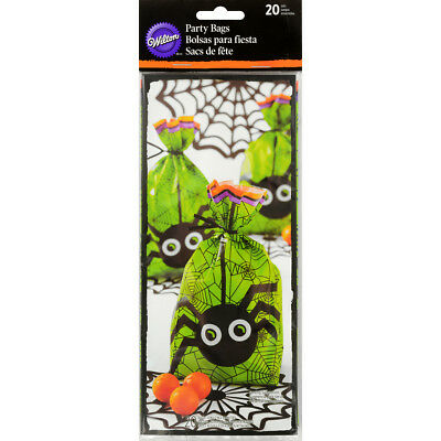 "Party Bags 4""X9.5"" 20/Pkg Jack & Ghoul Spider W126099"