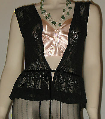 Vintage Lingerie  Camicia A Baby Doll Trasparente In Pizzo