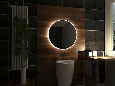 LED Illuminated Bathroom Mirror Delhi 50x50 cm | Modern | Wall mounted | Round