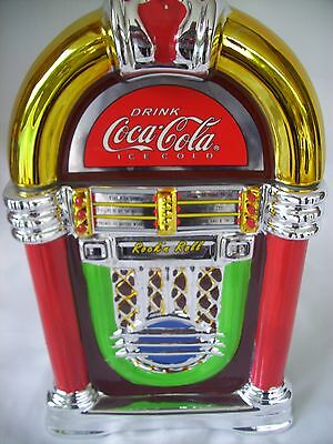 Rare 2002 Gibson Coca Cola Marketer Porcelain Jukebox Cookie Jar-EXCELLENT COND,