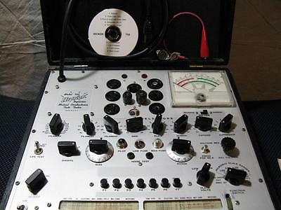 Hickok 750 Mutual Conductance Tube Tester - Calibrated - Voltages Near Perfect
