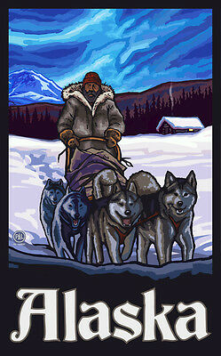 Dog Sled Team open edition print