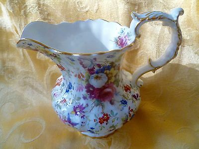 Hammersley Bone China Floral Creamer Pitcher, Jug Davenport Reproduction England
