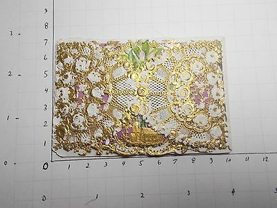 Antique Victorian Valentine Card Padded Paper Lace Die Cut  Polychrome A Gift