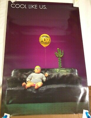 Cool Like Us vintage Fox Television Poster / original 1995 Promotional  27 X 40
