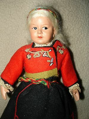 Vintage Ronnaug Petterssen Norway Doll Handmade Plastic Body 9.5 Inches SWEET