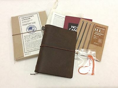 USED Midori Traveler's Leather Notebook (BROWN) Passport Size ***Bundle Set!!!**