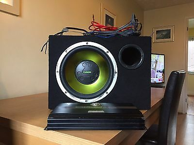 Fusion 12'' Sub With Amp And Wiring Kit
