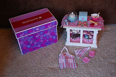 American Girl Doll Sweet Treats Bakery Case Plus Accessories EUC With Box