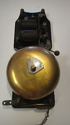 "Vintage 6"" Brass  Boxing Bell, Firehouse Alarm 1900'S MECHANICAL & ELECTRIC"