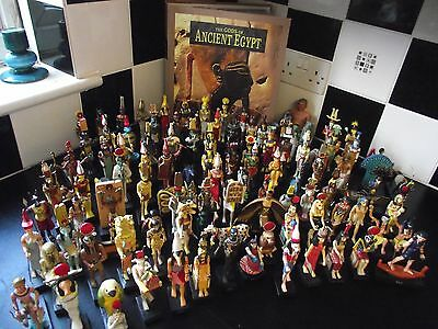 The Gods of Ancient Egypt Magazines by Hachette with Figurines - Near Complete