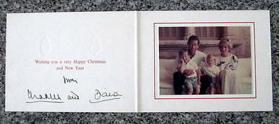 Princess Diana & HRH Prince Charles -  SIGNED in INK - BRITISH ROYALTY