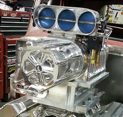 NEW billet aluminum polished blower belt guard for roots style superchargers