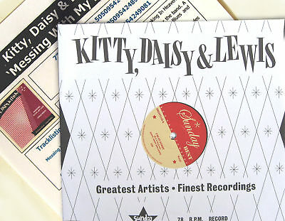"KITTY DAISY & LEWIS 10"" Messing With My Life + PROMO INFO Sheet UNPLAYED new"