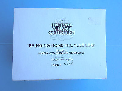 Department 56 Heritage Village Bringing Home the Yule Log Accessory #5558-1