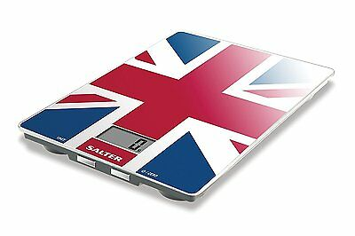 Salter Best of British Union Jack Electronic Digital Kitchen Food Glass Scale