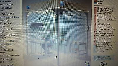 Softwall compund Clean Room Terra Universal 2900-50 6 x 8 with adjustable height