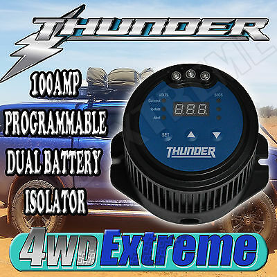 Thunder 100Amp Programmable Dual Battery Isolator - Dual Battery System Tdr15100