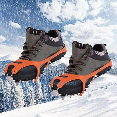 Mountaineering Hiking Crampons 18 Teeth Outdoor Antislip Ice Snow Shoe Spike M/L