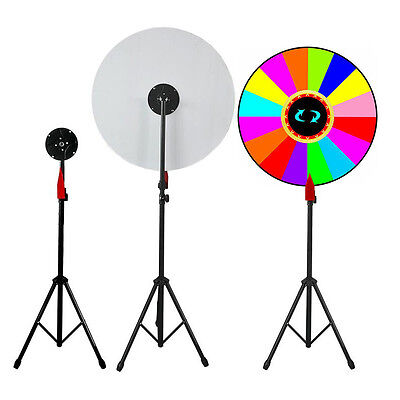 "Adjustable Stand 24"" Color Prize Wheel of Fortune Trade Show Tabletop Spin Game"