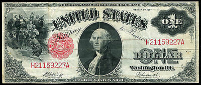"""Fr. 37 1917 $1 One Dollar Large Size """"sawhorse Back"""" Legal Tender Note Very Fine"""