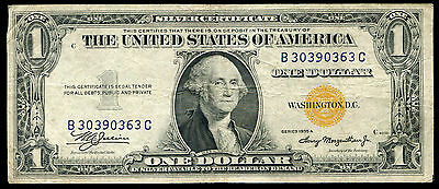 """Fr 2306 1935-A $1 Silver Certificate """"north Africa"""" Currency Note"""