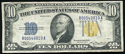 """Fr 2309 1934-A $10 Silver Certificate """"north Africa"""" Currency Note"""