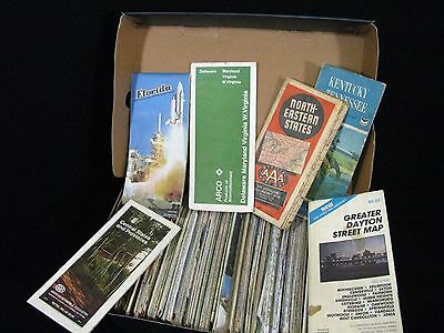 Lot of Vintage Gas Station State Road Maps Late 1960s and Up - 10 LBS