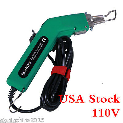 USA Stock!!!!110V 100W Durable Handheld Banner Rope Sponge Hot Knife Cutter Tool