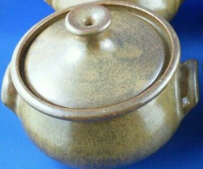 Incised CROWN JK POTTERY (1 Piece) SMALL CASSEROLE DISH w/LID VG - In Australia