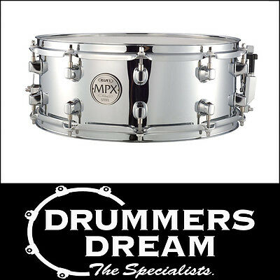 """MAPEX MPX Chrome Steel 14"""" x 5.5"""" Snare Drum - Chrome hardware BRAND NEW"""