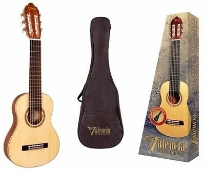VALENCIA 350 Series Travel Size Guitar Spruce Top with Bag