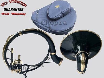 """!!Sale Sousaphone Indian Painted 21"""" Bell Black Bb 3 Valve with Bag + M/ P"""