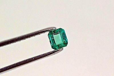 5mm Square Cut Natural Colombian Emerald Loose Gemstone