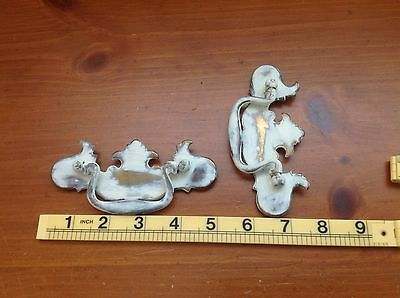 324 VTG Chippendale Swing Pulls In A Ivory Wash Shabby Chic! Only 1 Left
