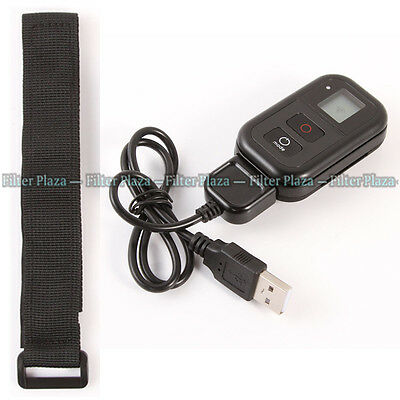 LCD WiFi Remote Control+Charging Cable+Wrist Belt for GoPro HERO 4 3+ 3 Camera